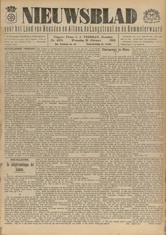 Nieuwsblad het land van Heusden en Altena de Langstraat en de Bommelerwaard 1923-02-21