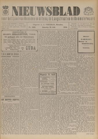 Nieuwsblad het land van Heusden en Altena de Langstraat en de Bommelerwaard 1919-07-12