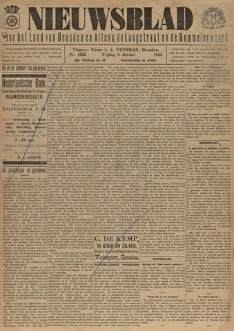 Nieuwsblad het land van Heusden en Altena de Langstraat en de Bommelerwaard 1923-10-05
