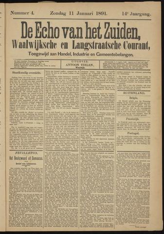Echo van het Zuiden 1891-01-11
