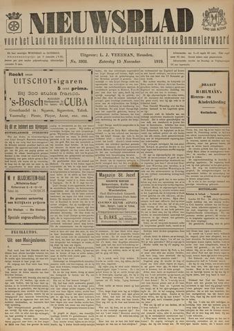 Nieuwsblad het land van Heusden en Altena de Langstraat en de Bommelerwaard 1919-11-15