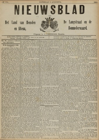 Nieuwsblad het land van Heusden en Altena de Langstraat en de Bommelerwaard 1890-08-09