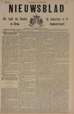 Nieuwsblad het land van Heusden en Altena de Langstraat en de Bommelerwaard 1888-02-22