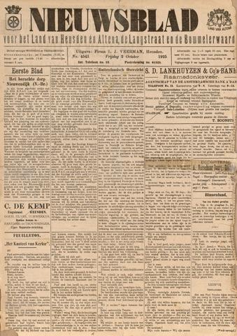 Nieuwsblad het land van Heusden en Altena de Langstraat en de Bommelerwaard 1925-10-02