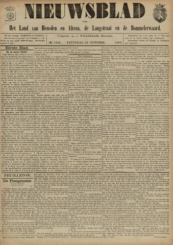 Nieuwsblad het land van Heusden en Altena de Langstraat en de Bommelerwaard 1892-10-22