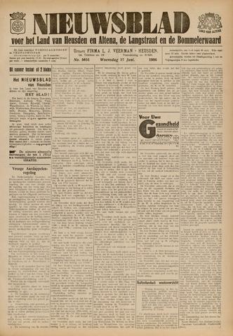 Nieuwsblad het land van Heusden en Altena de Langstraat en de Bommelerwaard 1936-06-17