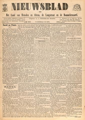 Nieuwsblad het land van Heusden en Altena de Langstraat en de Bommelerwaard 1904-10-12