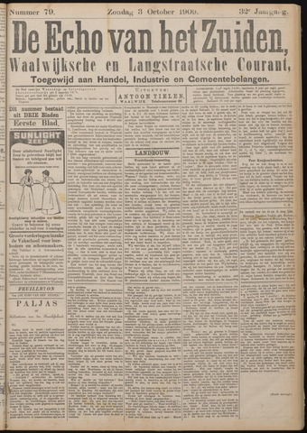 Echo van het Zuiden 1909-10-03