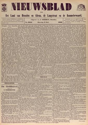 Nieuwsblad het land van Heusden en Altena de Langstraat en de Bommelerwaard 1909-07-03
