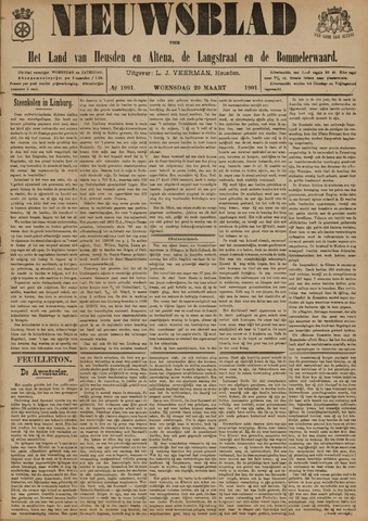 Nieuwsblad het land van Heusden en Altena de Langstraat en de Bommelerwaard 1901-03-20