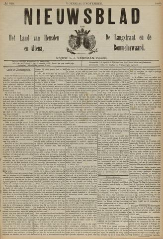 Nieuwsblad het land van Heusden en Altena de Langstraat en de Bommelerwaard 1890-11-05