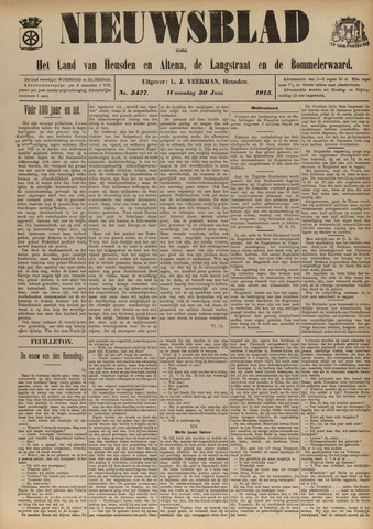 Nieuwsblad het land van Heusden en Altena de Langstraat en de Bommelerwaard 1915-06-30