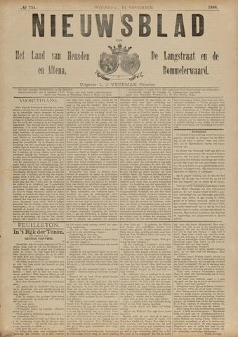 Nieuwsblad het land van Heusden en Altena de Langstraat en de Bommelerwaard 1888-11-14