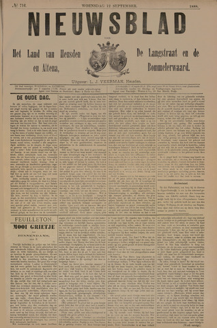 Nieuwsblad het land van Heusden en Altena de Langstraat en de Bommelerwaard 1888-09-12