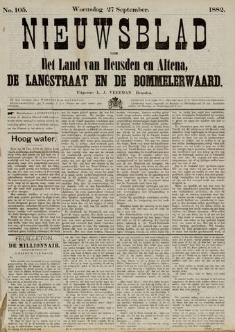Nieuwsblad het land van Heusden en Altena de Langstraat en de Bommelerwaard 1882-09-27