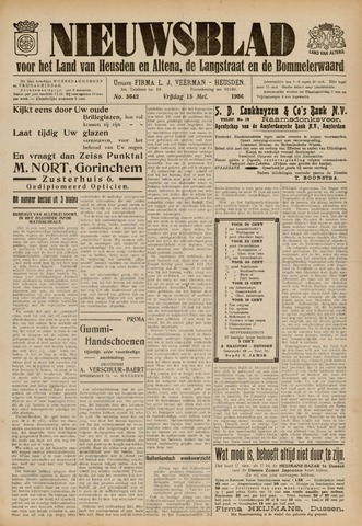 Nieuwsblad het land van Heusden en Altena de Langstraat en de Bommelerwaard 1936-05-15