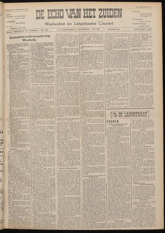 Echo van het Zuiden 1955-02-21