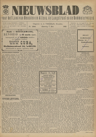 Nieuwsblad het land van Heusden en Altena de Langstraat en de Bommelerwaard 1921-05-07