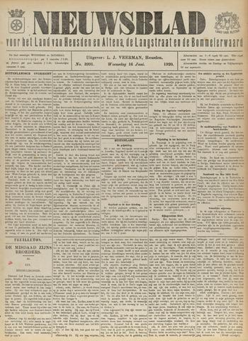 Nieuwsblad het land van Heusden en Altena de Langstraat en de Bommelerwaard 1920-06-16