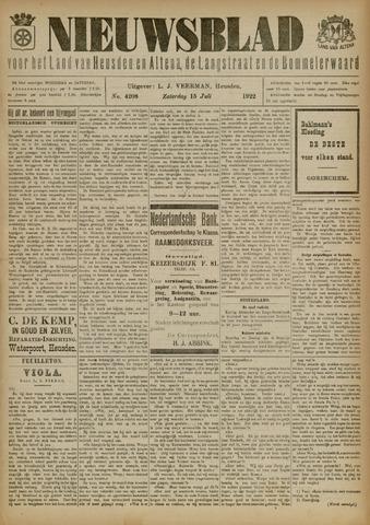 Nieuwsblad het land van Heusden en Altena de Langstraat en de Bommelerwaard 1922-07-15