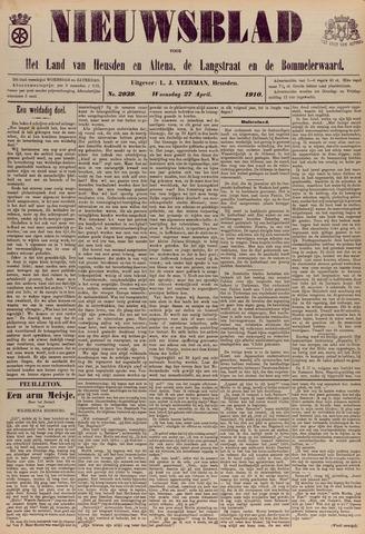 Nieuwsblad het land van Heusden en Altena de Langstraat en de Bommelerwaard 1910-04-27