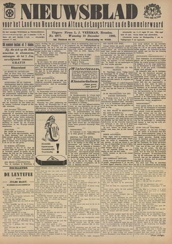 Nieuwsblad het land van Heusden en Altena de Langstraat en de Bommelerwaard 1929-12-18