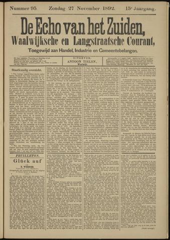 Echo van het Zuiden 1892-11-27