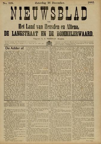Nieuwsblad het land van Heusden en Altena de Langstraat en de Bommelerwaard 1882-12-16