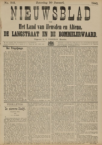 Nieuwsblad het land van Heusden en Altena de Langstraat en de Bommelerwaard 1885-01-10