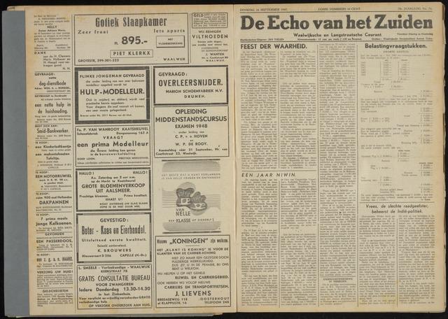 Echo van het Zuiden 1947-09-16