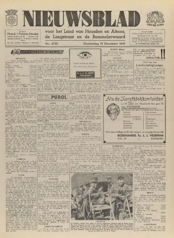 Nieuwsblad het land van Heusden en Altena de Langstraat en de Bommelerwaard 1949-12-15