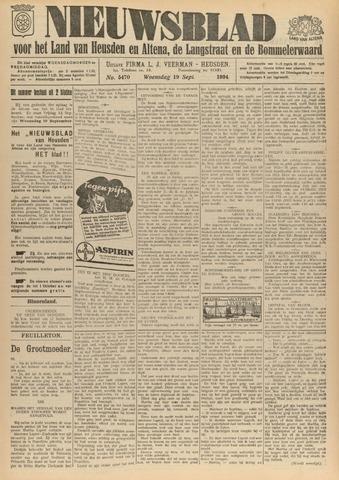 Nieuwsblad het land van Heusden en Altena de Langstraat en de Bommelerwaard 1934-09-19