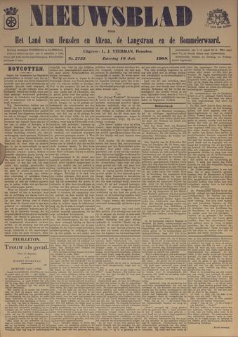 Nieuwsblad het land van Heusden en Altena de Langstraat en de Bommelerwaard 1908-07-18