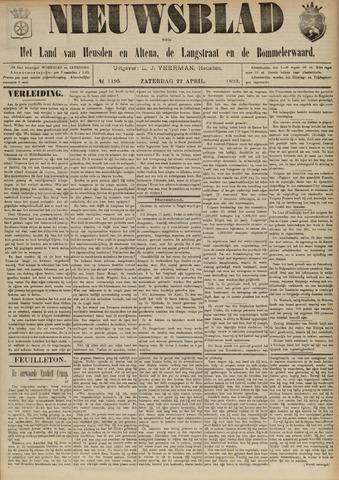 Nieuwsblad het land van Heusden en Altena de Langstraat en de Bommelerwaard 1893-04-22