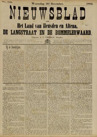 Nieuwsblad het land van Heusden en Altena de Langstraat en de Bommelerwaard 1882-12-20