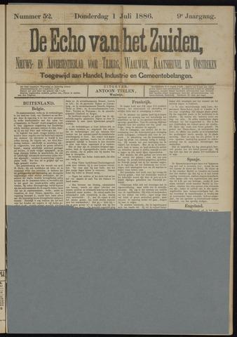 Echo van het Zuiden 1886-07-01