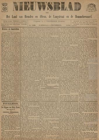 Nieuwsblad het land van Heusden en Altena de Langstraat en de Bommelerwaard 1896-11-04