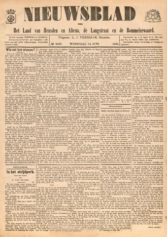 Nieuwsblad het land van Heusden en Altena de Langstraat en de Bommelerwaard 1905-06-14