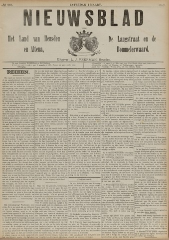 Nieuwsblad het land van Heusden en Altena de Langstraat en de Bommelerwaard 1890-03-01