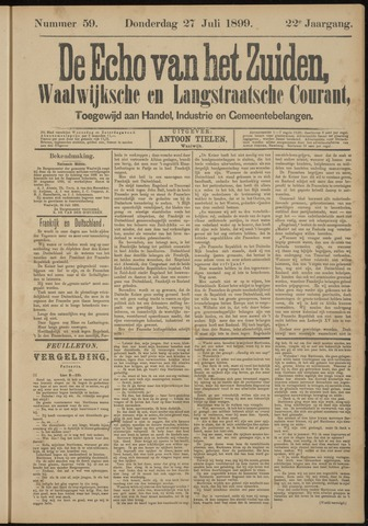 Echo van het Zuiden 1899-07-27