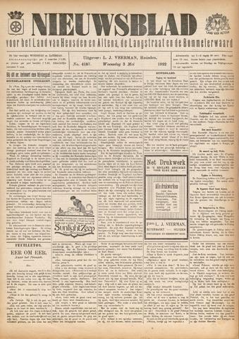 Nieuwsblad het land van Heusden en Altena de Langstraat en de Bommelerwaard 1922-05-03