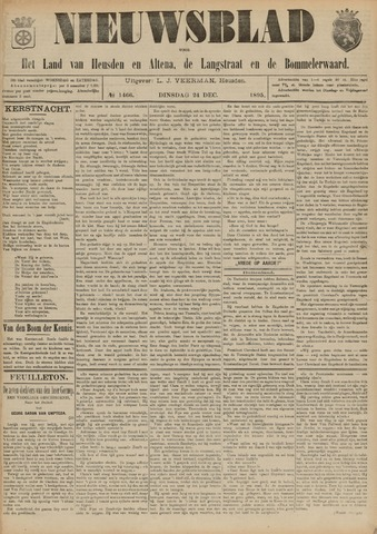 Nieuwsblad het land van Heusden en Altena de Langstraat en de Bommelerwaard 1895-12-24