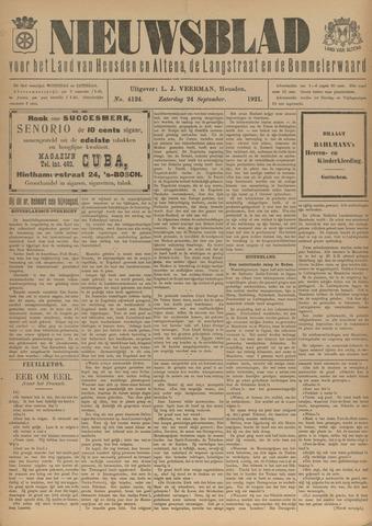 Nieuwsblad het land van Heusden en Altena de Langstraat en de Bommelerwaard 1921-09-24