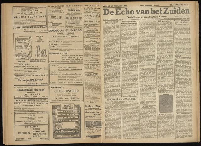 Echo van het Zuiden 1946-02-15