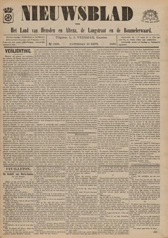 Nieuwsblad het land van Heusden en Altena de Langstraat en de Bommelerwaard 1899-09-16