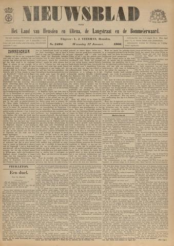 Nieuwsblad het land van Heusden en Altena de Langstraat en de Bommelerwaard 1906-01-17