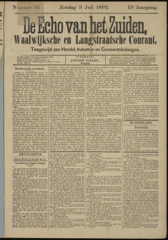 Echo van het Zuiden 1892-07-03
