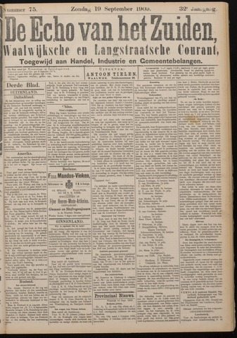 Echo van het Zuiden 1909-09-19