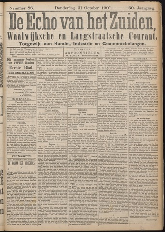 Echo van het Zuiden 1907-10-31