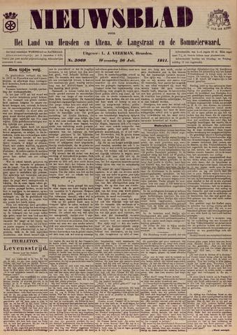Nieuwsblad het land van Heusden en Altena de Langstraat en de Bommelerwaard 1911-07-26